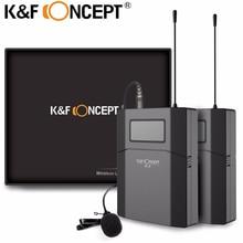K & F KONSEPT DSLR Kamera Mikrofon 70 M Uzaktan Video Kablosuz Yaka Mikrofonun Düşük Gürültü MIC Alıcı + Verici Kameralar için