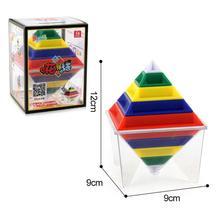 Perda de baixo Preço Venda Geométrica 3D Blocos De Construção Da Torre da Pirâmide Cubo de Montagem de Construção de Brinquedos Stress Relief Toy Funny Kids 15