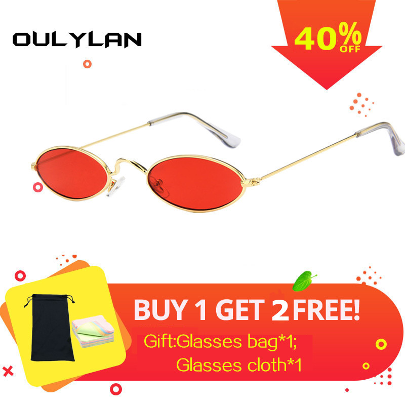 b839fd17318 Detail Feedback Questions about Oulylan Vintage Small Oval Sunglasses Women  Retro Brand Metal Frame Summer Men Sun Glasses Red Black Yellow Lens Eyewear  on ...