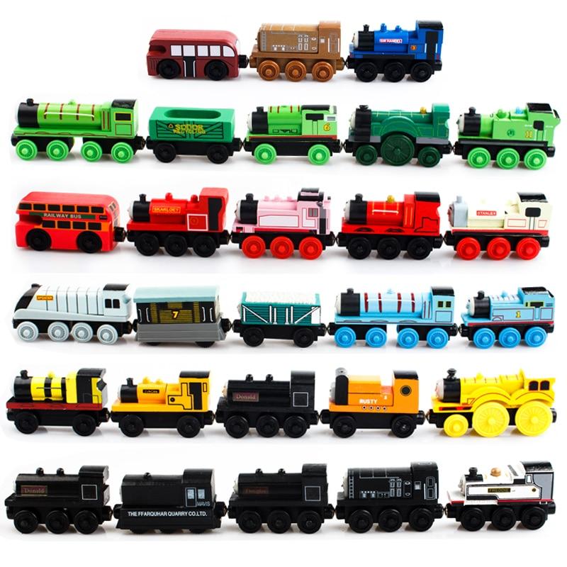 ФОТО Thomas Train Car Wooden Woy Kids Thomas Car Wood Models Toy Train Car Baby Wooden Toys  29Pcs/Lot