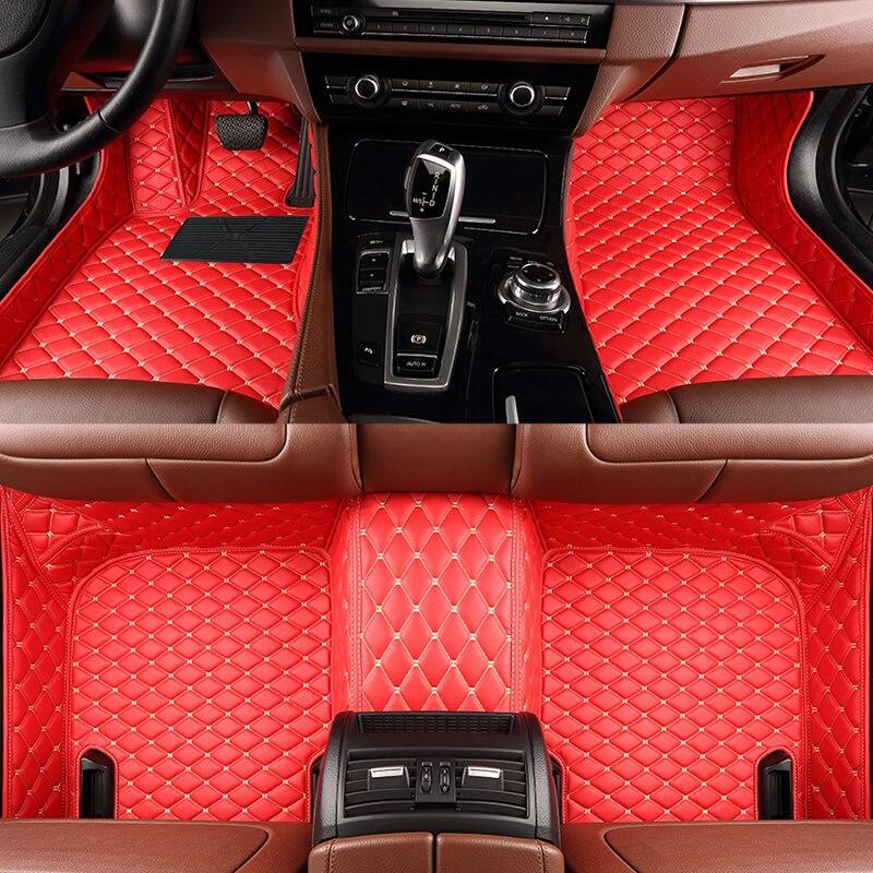 メルセデスベンツG350 G500 G55 G63 AMG W164 W166 M ML GLE X164 X166 GL GLS 320350400420カーペットメルセデスベンツCLA-классの車のフロアマット
