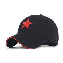 Baseball Hat Men Cotton Solid Red Star Embroidery Men Baseball