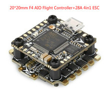 HGLRC XJB F428 Micro F4 AIO OSD BEC Flight Controller STM32F405RGT6 20x20mm &28A Blhel_S BB2 2-4S 4 in 1 ESC For RC Racing Drone