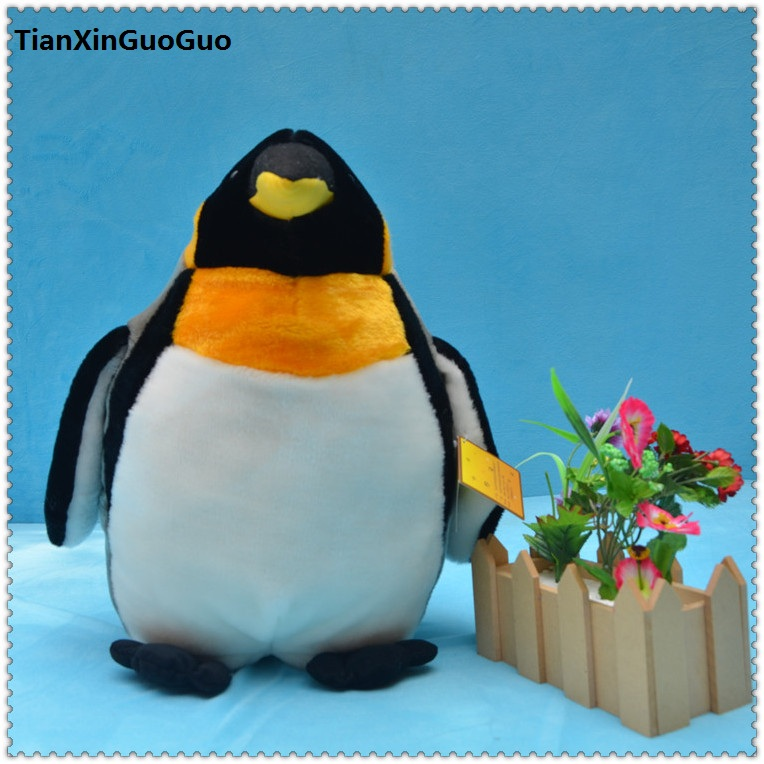 Penguin Soft Toy with Green Scarf Stuffed Large Plush Penguin Doll for Kids by Busting Baby STEP Toys and Gifts