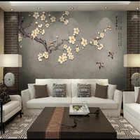 Большие обои на заказ, ручная роспись, цветущая слива и птицы, ТВ фон на стену, hi Meitou, Фреска, водонепроницаемый материал