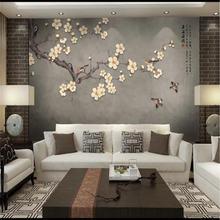 Индивидуальные большие обои ручная роспись цветы сливы и птицы