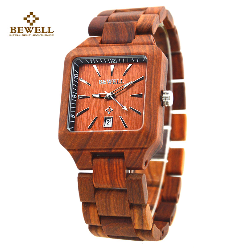 Men Wood Watches with Sandalwood Strap Calendar Clock for Male Luxury Brand Sport Wristwatch with Gift Box for Your Family 110A men wooden watch for male quartz wristwatches sandalwood strap calendar clock luxury brand wood watch with gift box friend 100bg