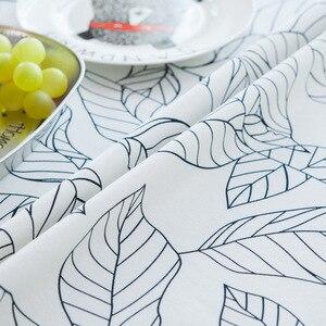 Image 5 - עלה בסגנון אירופאי מודפס מפת שולחן מלבני אוכל שולחן כיסוי Tafelkleed שולחן בד מסיבת חתונת בית מטבח דקור