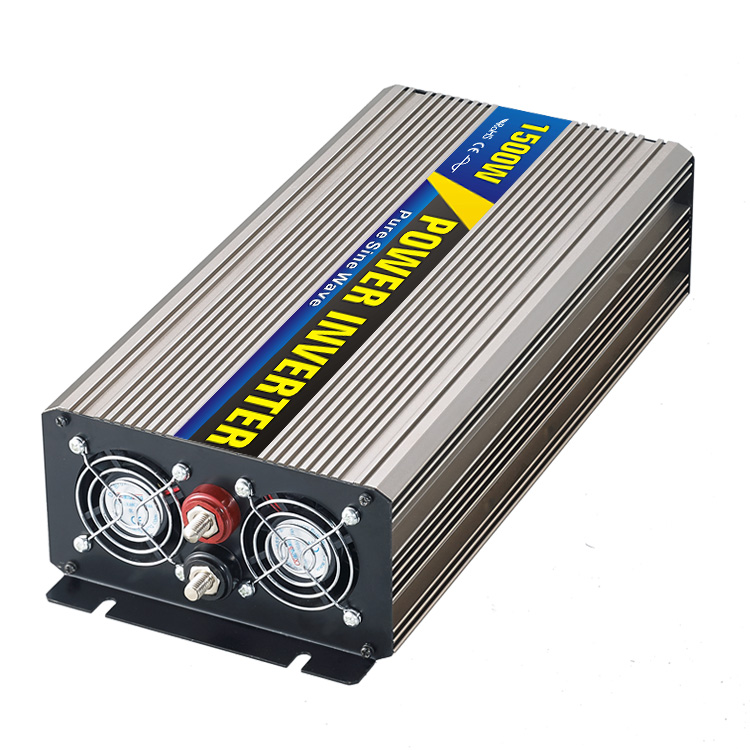 High efficiency 1500W Car Power Inverter Converter DC 12V to AC 110V or 220V Pure Sine Wave Peak 3000W Power Solar inverters