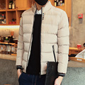 New Men's Winter Coat Jacket Thick Cotton Casual Male Korean Wadded Snow Overcoat Slim Plus Size Solid Brand Down Parkas Hiver