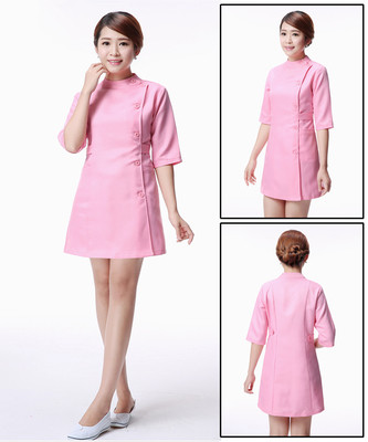 medical uniforms Hospital Lab Coat Korea Style Women Hospital Medical Scrub Clothes Uniform Breathable women work wear pink tops