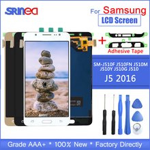 Dành cho Samsung Galaxy Samsung Galaxy J5 2016 Màn Hình J510 LCD SM J510F J510FN MÀN HÌNH Hiển Thị LCD Và Bộ Số Hóa Cảm Ứng Có Keo Dán Dụng Cụ