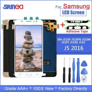 Image 1 - Samsung Galaxy J5 2016 Ekran J510 LCD SM J510F J510FN LCD ekran Ve dokunmatik ekranlı sayısallaştırıcı grup Ile Yapıştırıcı Araçları