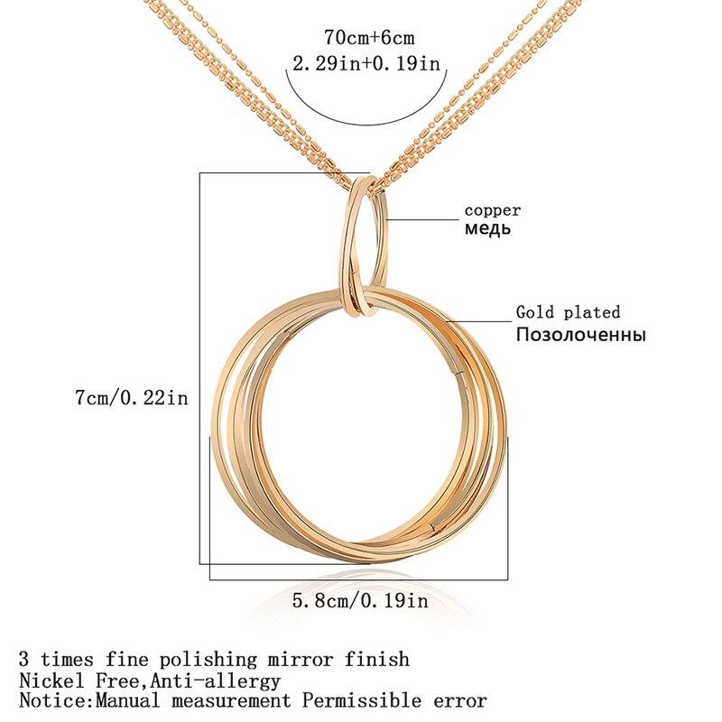Halskette Layering Style Damen Mädchen Edelstahl in Rose Gold Color mit Anhänger