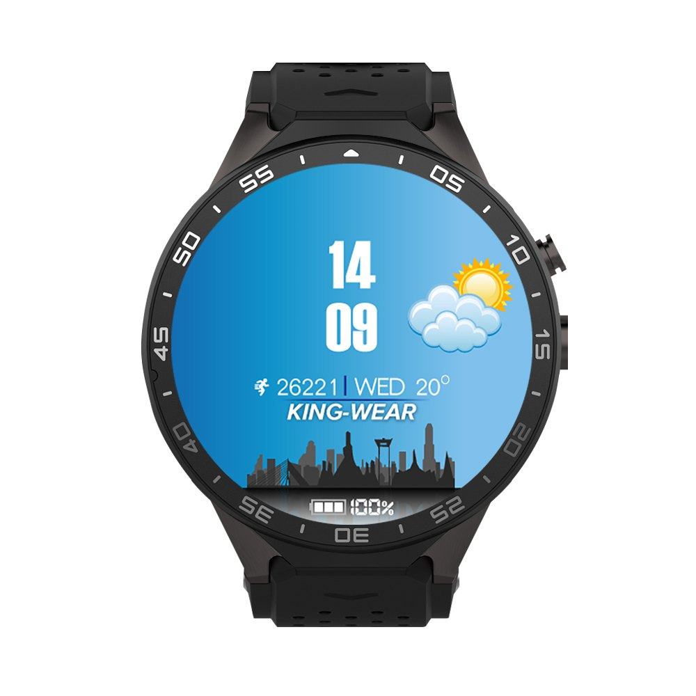 KingWear KW88 Android 5.1 1.39 inch Amoled Screen 3G Smartwatch Phone MTK6580 Quad Core 1.39GHz GPS Gravity Sensor Pedometer finow x5 air 3g smartwatch phone 1 39 inch android 5 1 mtk6580 quad core 1 3ghz 2gb ram 16gb rom gps bluetooth 4 0 pedometer