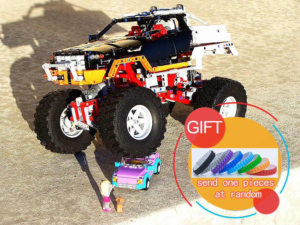 20014 1386Pcs Ultimate Version The Remote-Control Four-Wheel Drive Off-road Vehicles Educational 9398 Toys lepin