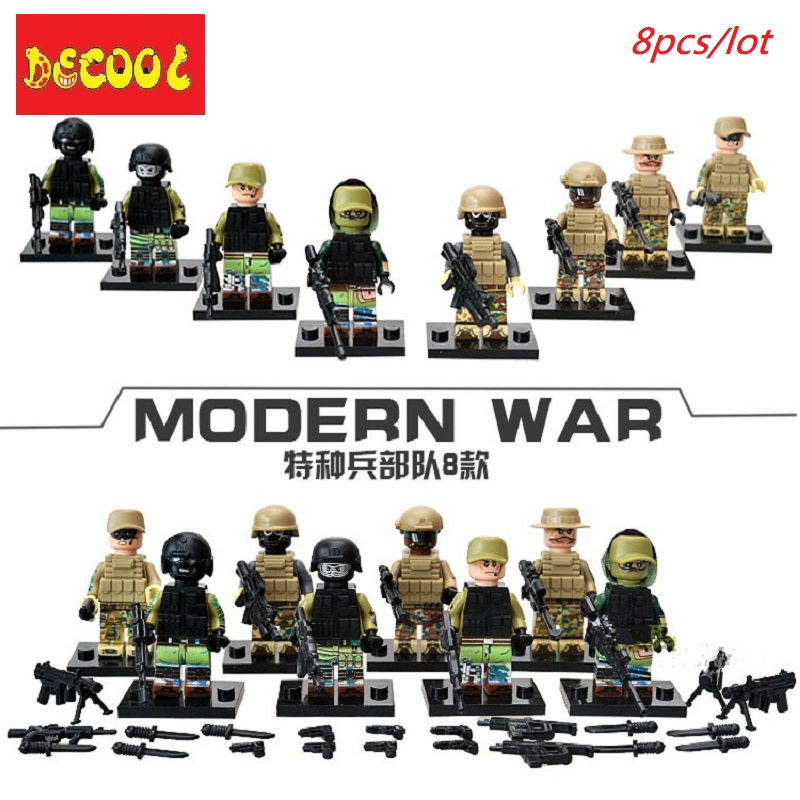 Classic Soldier Figures 10 PCS Army Building Blocks Military Toys Minifigures