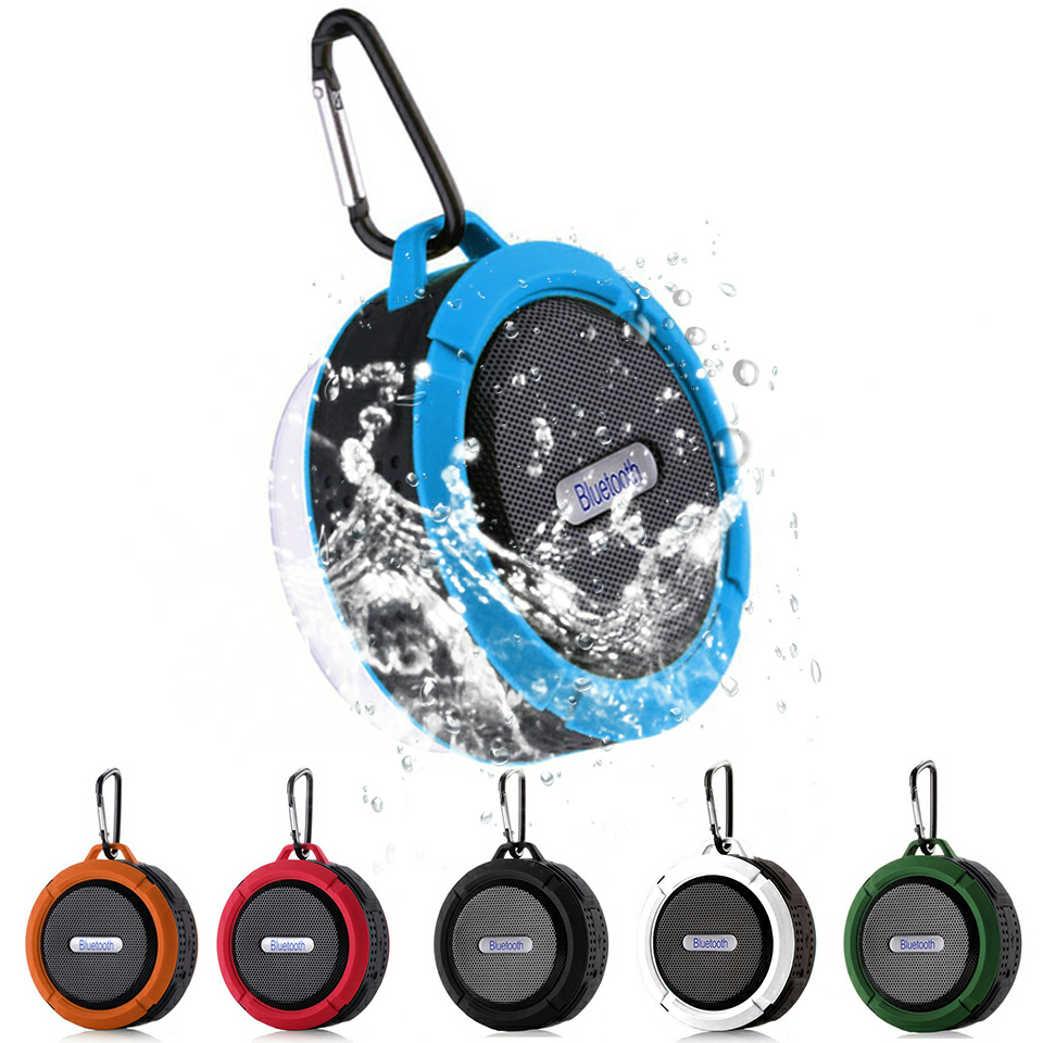 Portable Wireless Mini Bluetooth Speaker Waterproof Subwoofer Bluetooth Sound Box Speakerphone TF Card Handsfree Shower Speaker
