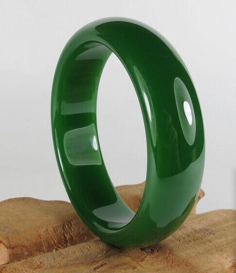 Натуральный зеленый нефрит Xiu новая распродажа Жадеит браслет