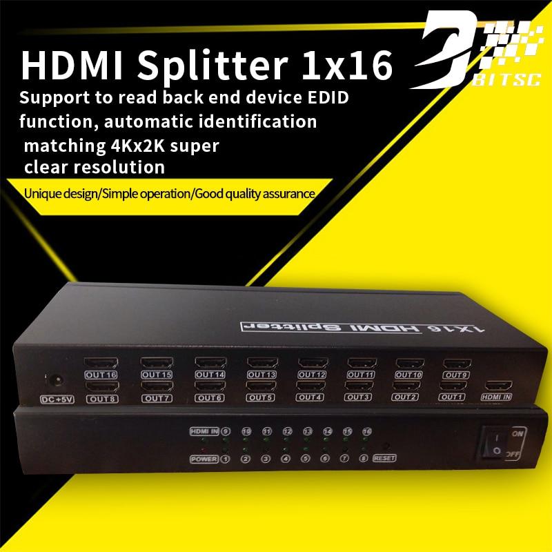 SZBITC Controlador Monitor HDMI Splitter 1x16 Video Wall HDMI Splitter TV Screen  Processor For PC/Laptop DVD PAD buy monitor hdmi