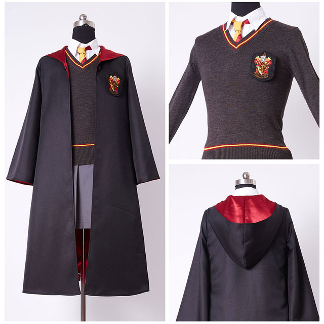 Adult Version Hermione Granger Cosplay Costume Adult Gryffindor Robe Uniform Dress For Women Girls Halloween Cosplay & Adult Version Hermione Granger Cosplay Costume Adult Gryffindor Robe ...