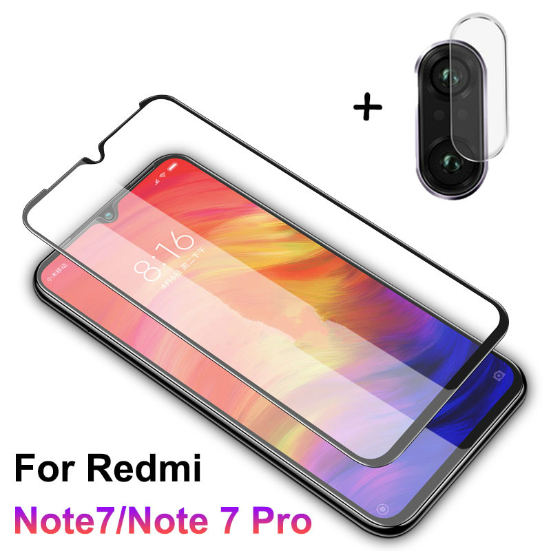2 In 1 Screen Protector For Redmi Note 7 Camera Glass Tempered Protective Film For Xiaomi Redmi Note 7pro Glass Phone 7A 5plus-in Phone Screen Protectors from Cellphones & Telecommunications