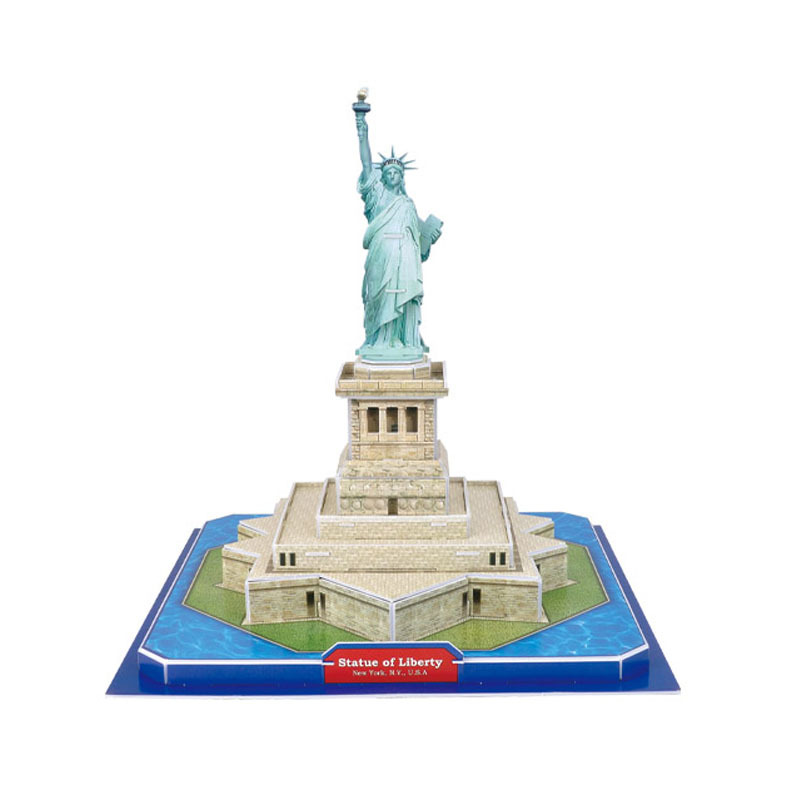 Creative 3D Cardboard Model Famous Architecture Statue of Liberty Model of Diy Toys for Children image