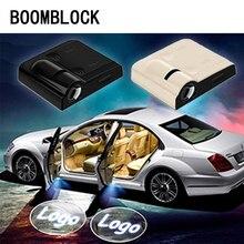 2pcs Car Door Welcome lights Projector Logo For Hyundai Ix35 solaris Accent IX25 tucson i30 creta kia sportage 2018 Rio 3 4 Kona