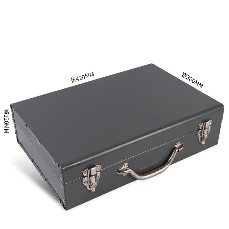 Household Electric Tool Iron Toolbox Storage Box Portable metal box 40x30x12cm Y цена