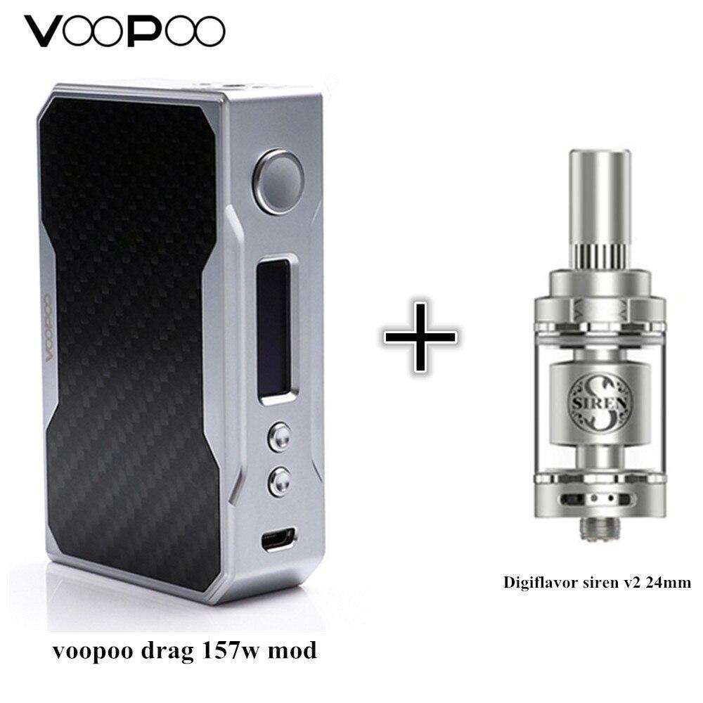 Originale voopoo trascinare 157 w mod e Digiflavor Sirena V2 GTA MTL Serbatoio 24mm Versione 4.5 ml sigaretta elettronica pieno kit vape ecig