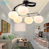Modern Minimalist LED Ceiling Circular Lights Artistic Living Room Bedroom Children S Room Glass Shade Restaurant