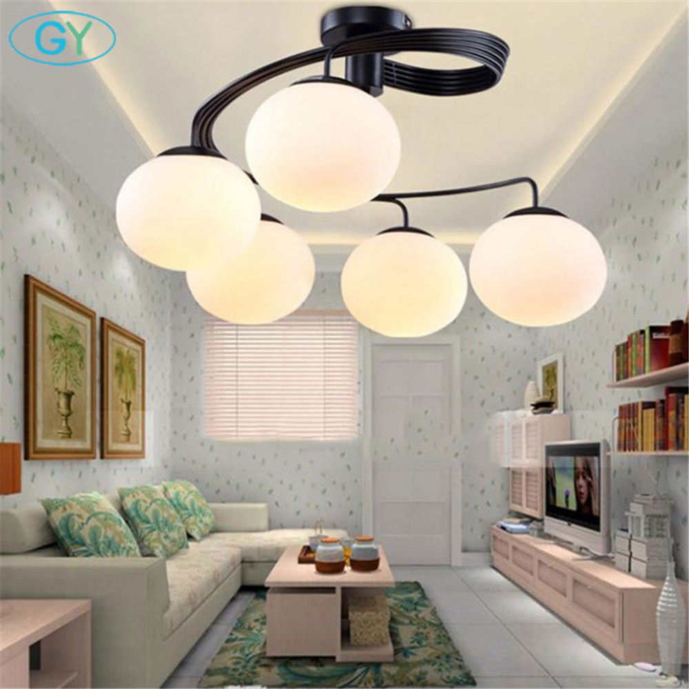 Modern minimalist LED ceiling lights artistic living room bedroom children's room glass shade restaurant lamps plafond lamp led circular ceiling lamps chinese real wood art acrylic modern minimalist bedroom study decorated living room ceiling lights za