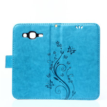 Luxury Flip PU Leather + Soft Silicon Wallet Cover For Samsung Galaxy J5 J500