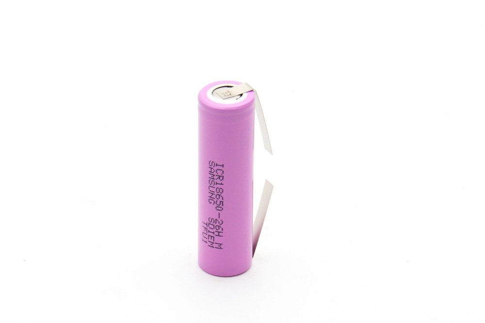 3pcs lot ICR18650 26fm 2600mah 18650 battery with nickel tabs for DIY power bank use