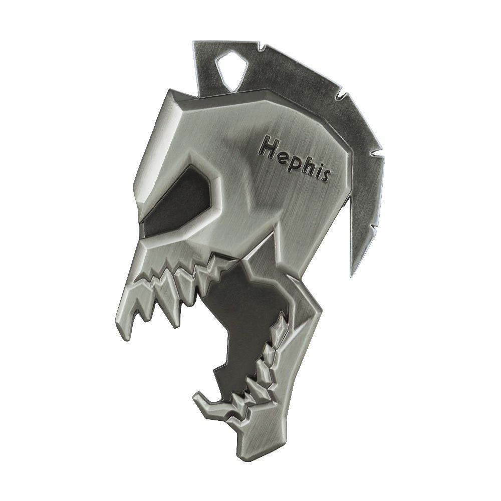 Hephis K12 Skull Sparta Key Chains Multi Function Bottle Opener Tape Cutter Car Keychains High End Key Holder Ring For Men Gift