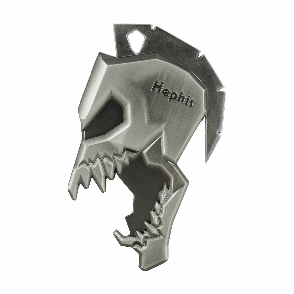 Hephis K12 Skull Sparta Key Chains Multi Function Bottle Opener Tape Cutter Car Keychains High End Key Holder Ring For Men Gift