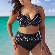 Black Large Size Swimsuit 2018 Plus Size Bikini Set Swimwear 5xl 4xl Bathing Suits For Women Beachwear Swim Wear