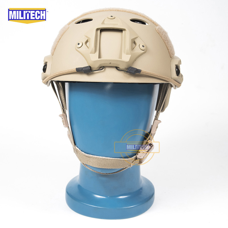 MILITECH FAST TAN PJ Carbon Style Vented Airsoft Tactical Helmet Ops Core Style High Cut Training Helmet Ballistic Style Helmet. militech fast atau pj carbon style vented airsoft tactical helmet ops core style high cut training helmet ballistic style helmet