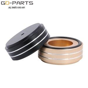 Image 5 - 58x22mm Solid Volledige Aluminium Speaker AMP Turntable Recorder Isolatie Voet Spike Floor Base Pad Chassis Voeten Stand kegel Hifi DIY