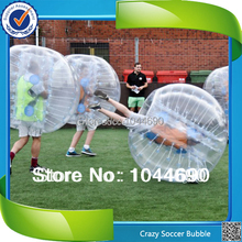 New, 1.2/1.5/1.7m top quality 0.8mm PVC inflatable bubble ball ,bubble ball for football
