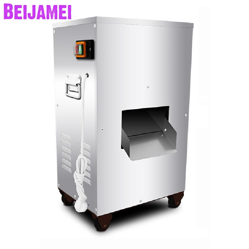 BEIJAMEI 2.5mm And 3.5mm Thickness Commercial Slicing Machine Vertical Electric Meat Cutting Machine Meat Slicer Cutter