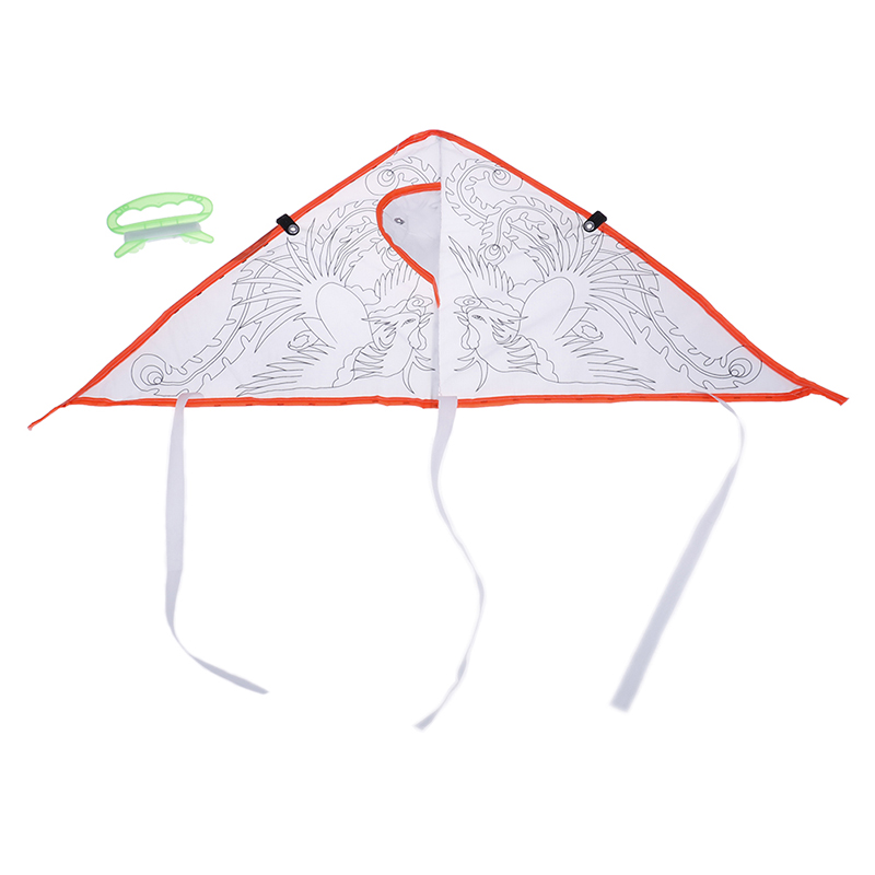 1Pc DIY Cartoon Painting Kite Foldable Flying Easy Control Family Outings Outdoor Fun Sports For Children's Best Gifts