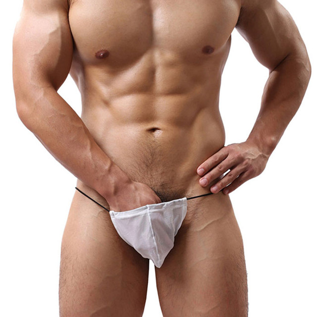 2017New Mens Strap Exotic Briefs Sexy G-String Tongs Intimates Solid Comfortable Bikini Underwear Bag Bulge Pouch Briefs T-back