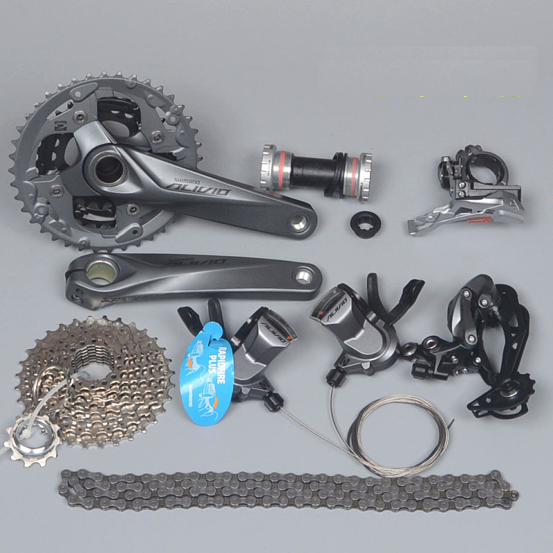 SHIMANO ALIVIO M4000 M4050 T4060 3x9S 27S speed MTB Bicycle groupset with hydraulic disc brake integrated шифтер shimano alivio m4000 3 x 9 скоростей