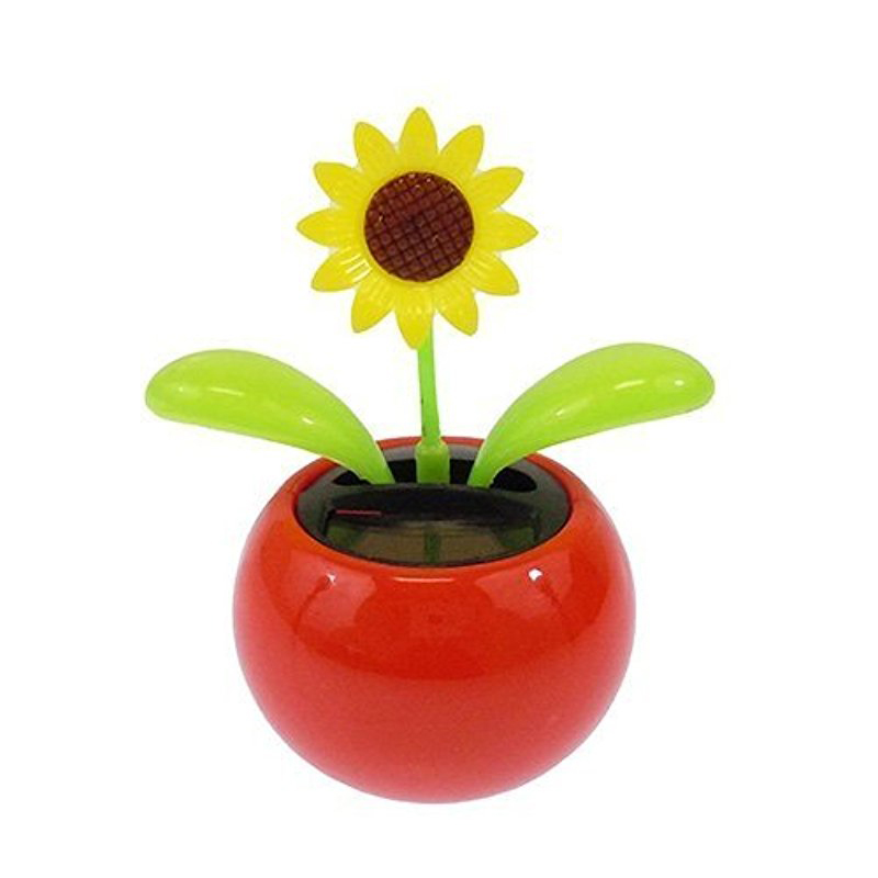 LeadingStar Solar Toy Mini Dancing Flower Sunflower Great As Gift Or Decoration Ship In Random Color Funny Toy
