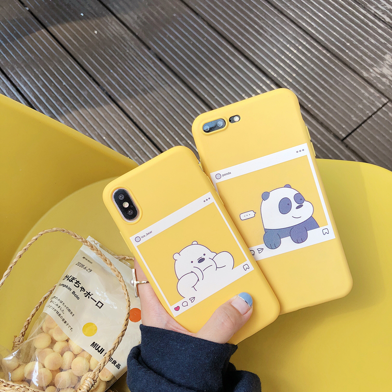 Cute We Bare Bears Brothers Cartoon Candy Soft Tpu Phone Iphone 6 6S Plus X 7 8 Plus XR XS MAX Cover Fundas