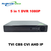 New Arrival 1080P AHD H 4 Channel AHD DVR Recorder 3 In 1 Hybrid DVR 8