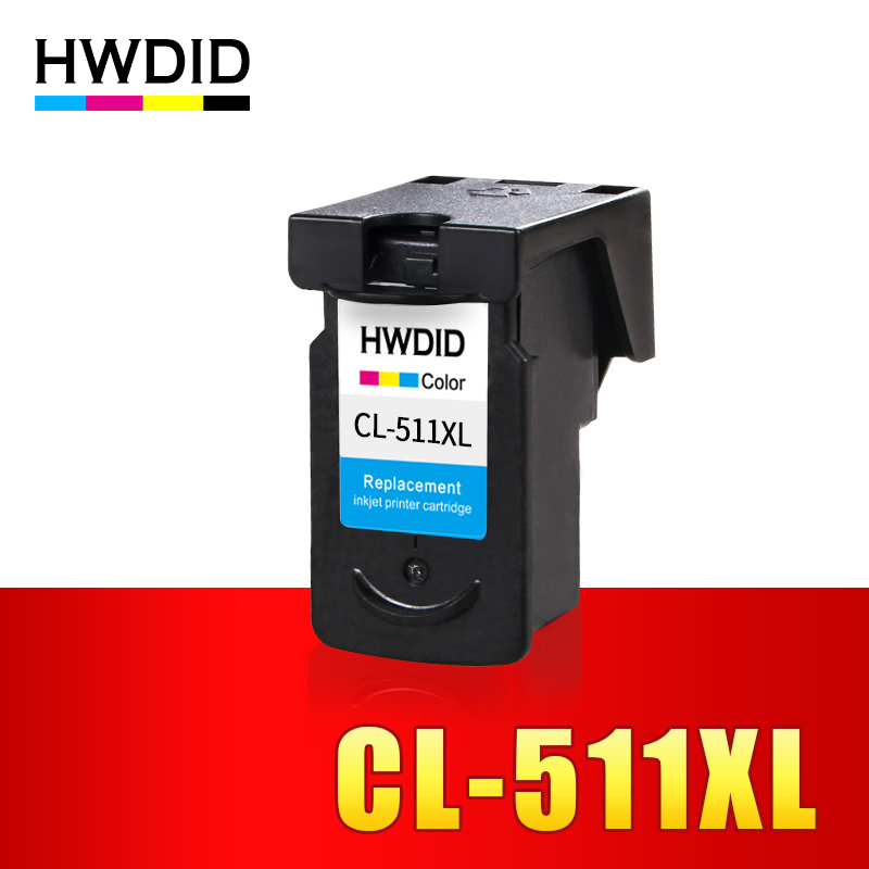 HWDID CL-511 CL 511XL ink cartridge replacement for Canon CL511 CL 511 for iP2700 Pixma MP250 270 280 480 MX320 330 340 350
