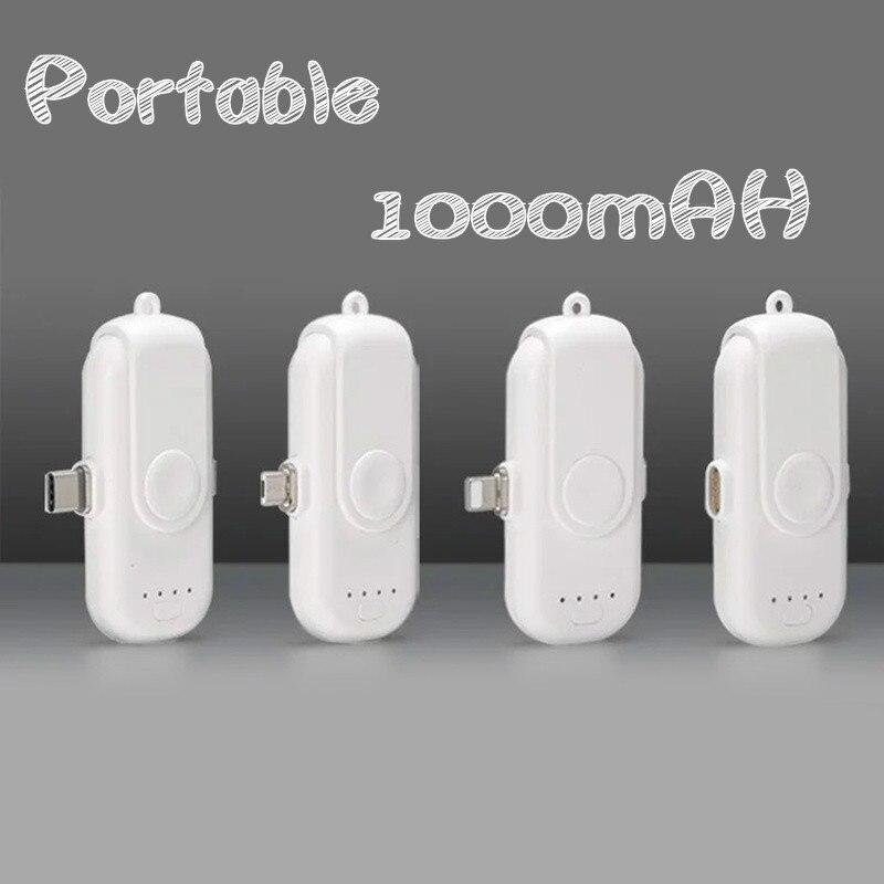 1000mAh Portable magnétique pour IPhone/iPad/Samsung/Xiaomi/Huawei aimant chargeur de batterie externe pour foudre type-c Android