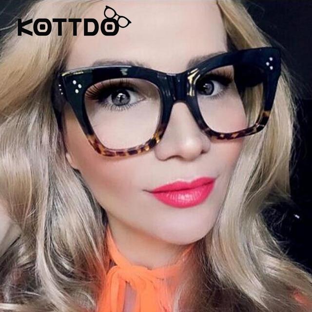 2017 Fashion Vintage Eyeglasses Women Brand Designer Square Eye ...